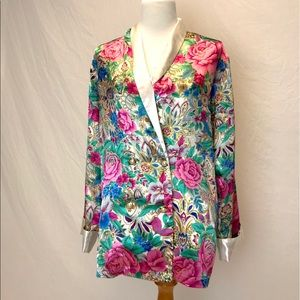 Victoria's Secret   vintage satin floral robe M